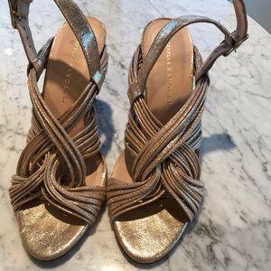 Loeffler Randall Gold Heels 7 1/2